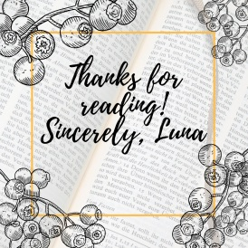 Writing and More – Bookish Luna